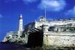Castillo de los Tres Reyes del Morro, que defiende la entrada del puerto de La Habana, comenzada su construcción por Juan Bautista Antonelli en 1589