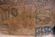 Pintura em casa de barro, aldeia de Tiébélé<br />Foto Renato Barbieri