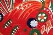 Exposição <i>Vkhutemas: o futuro em construção (1918-2018)</i>, padrão têxtil de Varvara Stepanova, recriação Oficina Sesc Pompeia/coordenação Celso Lima<br />Foto Silvana Romano