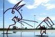 Escultura de Niemeyer el 4 Septiembre 2009<br />Foto divulgação