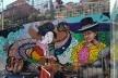 """Grafite em La Paz/Bolívia, em destaque figura da """"cholita""""<br />Foto Adriana Idalina Rojas Gutierrez"""