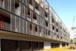 Conjunto Habitacional Fira de Barcelona – L'Hospitalet de Llobregat, fachada sul, Barcelona 2009. ONL Arquitectura<br />Foto Gianluca Giaccone