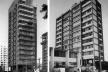 À esquerda, Edifício Macunaíma, São Paulo, 1980. À direita, Edifício Rossi Leste, São Paulo, 1962<br />Foto José Moscardi