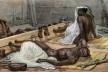 """Jean-Baptiste Debret, """"Negros no tronco""""<br />Imagem divulgação  [Voyage Pittoresque et historique au Bresil]"""
