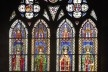 Vitral com imperadores, interior da Catedral de Notre-Dame de Strassbourg<br />Foto Victor Hugo Mori
