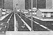 Perspetivas desenhadas para a promoção do Conjunto Satélite. Subjacente ao projeto arquitetônico, sugere-se um certo estilo de vida dos moradores. Os traços retos e os pontos de fuga são expressões do tecnicismo da época [IPASEP, 1974]
