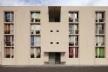 Obra Concluída: Fachada de Acesso do Edifício de 5 pavimentos<br />Foto Leonardo Finotti