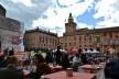 Centro Histórico de Bolonha, patrimônio edificado e cafés na Piazza Maggiore em frente a Basílica de San Petronio<br />Foto Fabio Jose Martins de Lima