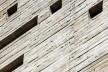 Praça das Artes, detalhe do edifício em concreto aparente em cor ocre, São Paulo. Escritório Brasil Arquitetura e arquiteto Marcos Cartum<br />Foto Nelson Kon