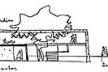 Casa de Catanduva. Croqui seção longitudinal