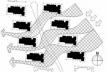 Figura 12 – Esquema mostrando a ventilação cruzada por todos os edifícios<br />Desenho Mirian Keiko Ito Rovo