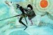 Dom Quixote, ilustração de Cândido Portinari em lápiz de cor<br />Imagem divulgação