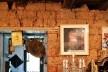 Parede interna do sobrado, em adobe, Tiradentes MG, 2014<br />Foto Elio Moroni Filho
