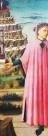 Nossa Senhora veste azul, Dante Alighieri veste rosa