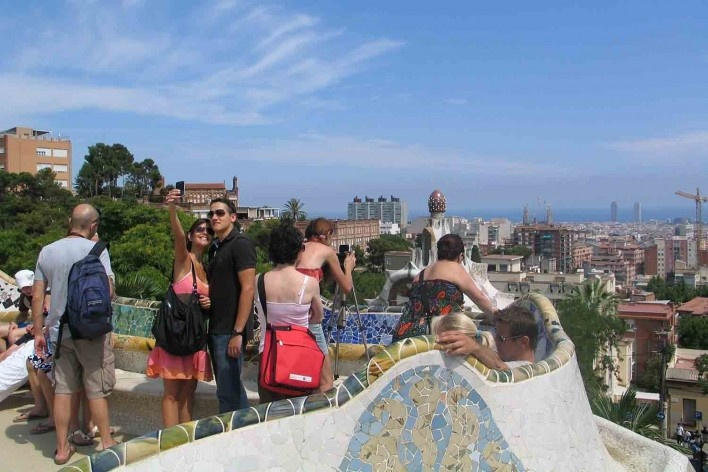 Parque Güell, Barcelona, arquitectos Antoni Gaudí e Josep Maria Jujol<br />Foto Abilio Guerra