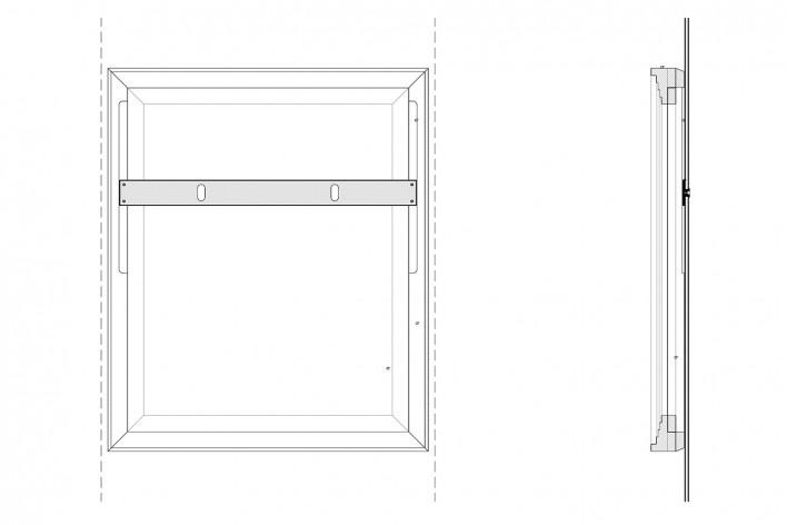Cavaletes de vidro reconstruídos, peças metálicas de suporte da obra. Metro Arquitetos Associados