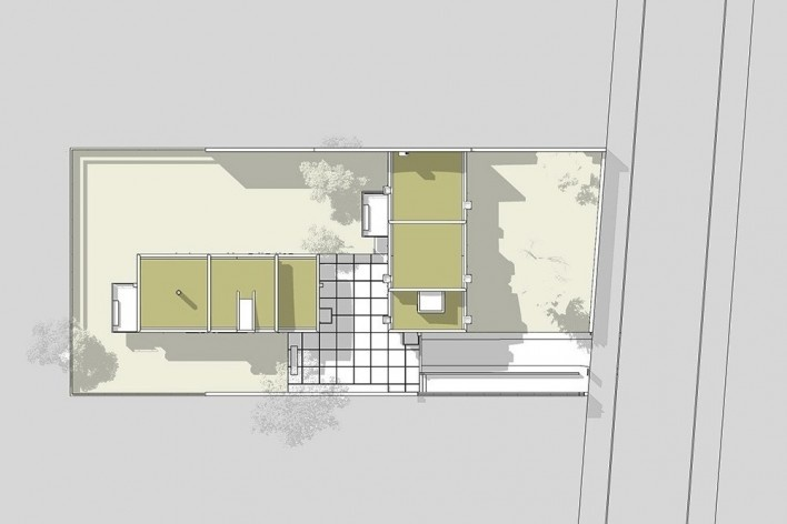 Casas Jaoul, planta cobertura, Neully-sur-Seine, Paris, França, 1951-56. Arquiteto Le Corbusier<br />Elaboração Edson Mahfuz