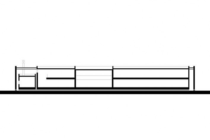 Corte longitudinal<br />Desenho do autor