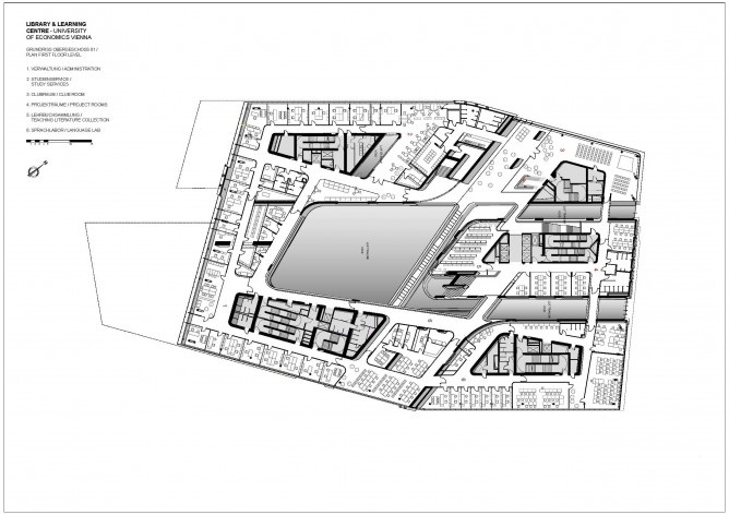 library and learning centre university of economics business vienna plan first floor level - Vienna House Plans