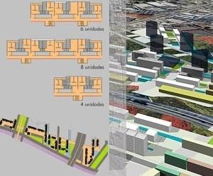A proposta para o HIS, desenhos e perspectiva geral<br />Imagem dos autores do projeto