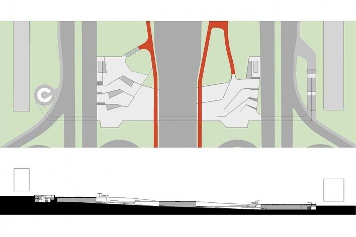 Implantação da proposta na passagem 113 sul. Concurso Passagens sob o Eixão. Primeiro colocado<br />divulgação
