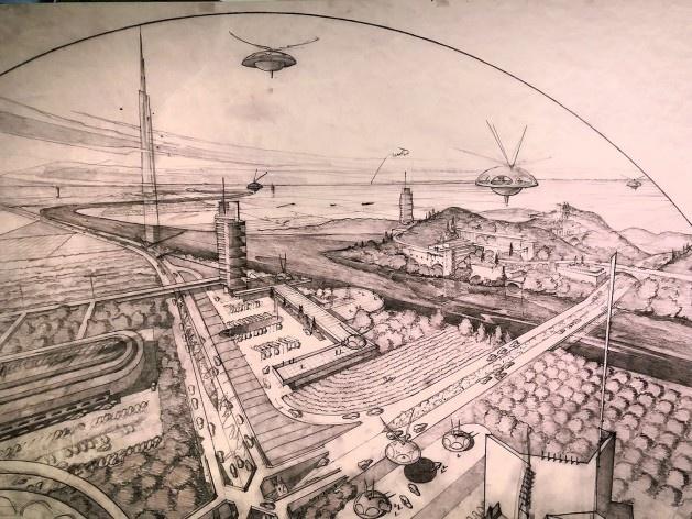 "Broadacre City, Frank Lloyd Wright, mostra ""The Human Insect: Antenna Architectures 1887-2017""<br />Foto Ana Tagliari / Wilson Florio, 2018"