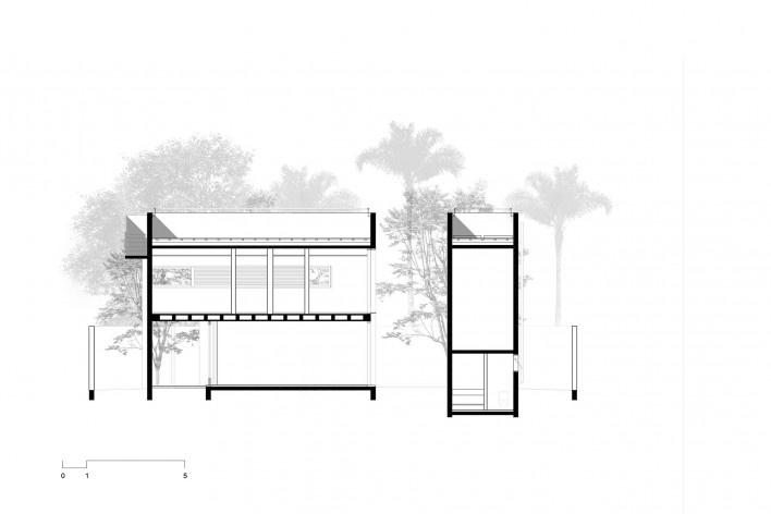 Casa 239, corte ll, São Paulo SP, 2012. Una Arquitetos <br />Imagem divulgação