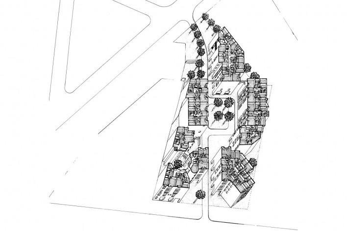 Les Hautes Formes, Paris. Arquiteto Christian de Portzamparc, 1975 [PORTZAMPARC, Christian de. A terceira era da cidade]