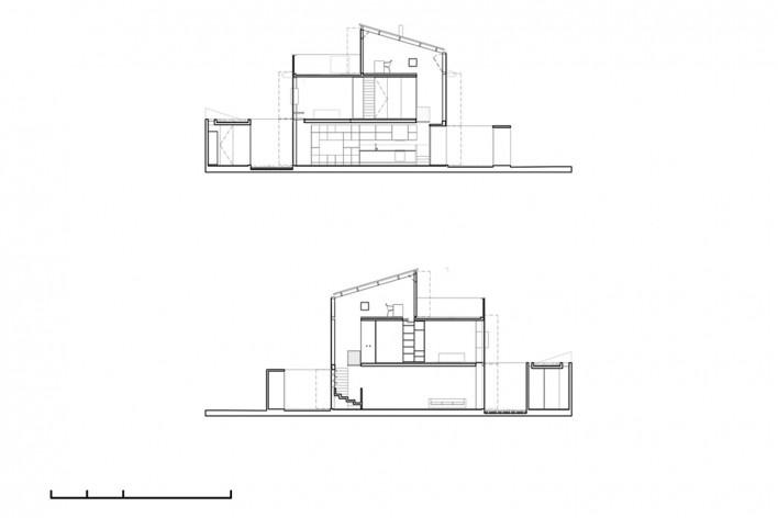 Casa Schendel, cortes, São Paulo SP Brasil, 2017. Arquitetos Marina Acayaba e Juan Pablo Rosenberg / AR Arquitetos<br />Imagem divulgação  [Acervo AR Arquitetos]