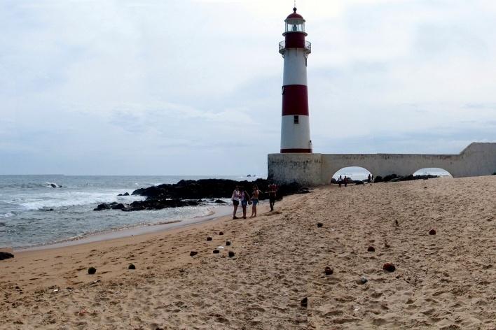 Praia de Itapuã em Salvador<br />Foto Abilio Guerra