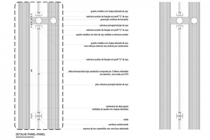 Arena da Juventude, detalhe técnico do painel, Parque Olímpico de Deodoro, Rio de Janeiro, RJ, Escritório Vigliecca & Associados<br />Imagem divulgação
