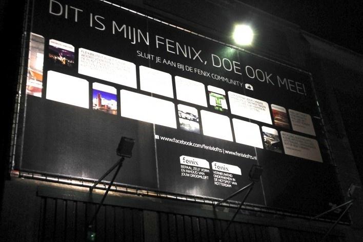 Painel na entrada da Fenixloods<br />Foto Fabio Lima