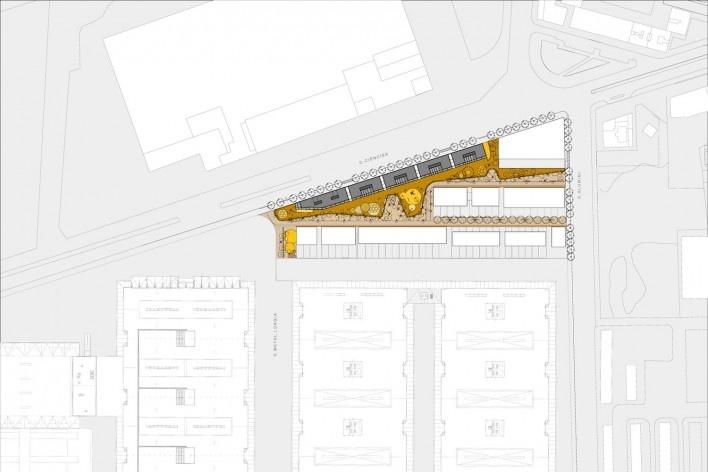 Conjunto Habitacional Fira de Barcelona – L'Hospitalet de Llobregat, implantação, Barcelona 2009. ONL Arquitectura<br />Imagem divulgação