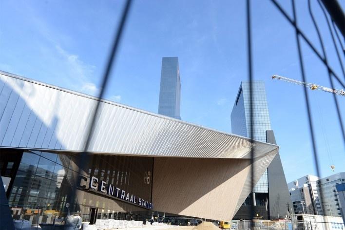 Aspecto da estação central de Rotterdam<br />Foto Fabio Lima