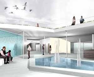 Centro Cultural e Centro Administrativo – interna<br />Imagem dos autores do projeto