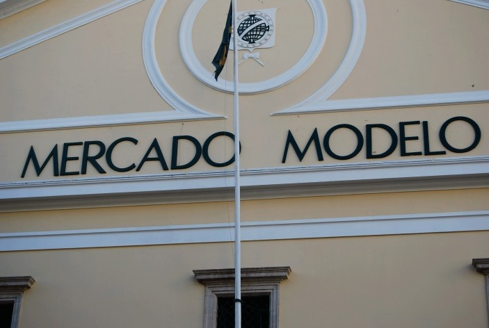 Centro Histórico de Salvador, cidade baixa, aspecto da fachada do Mercado Modelo<br />foto Fabio Jose Martins de Lima