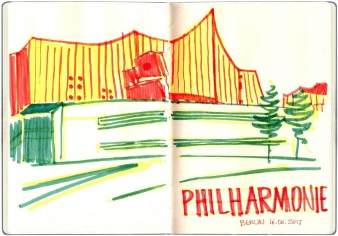 Filarmônica de Berlim, Alemanha<br />Desenho de Petterson Dantas