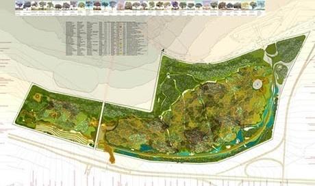 Planta paisagismo <br />Imagem dos autores do projeto