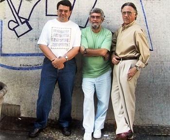 Roney, Carlos Lemos e Salomon Cytrynowicz<br />Foto Michel Gorski