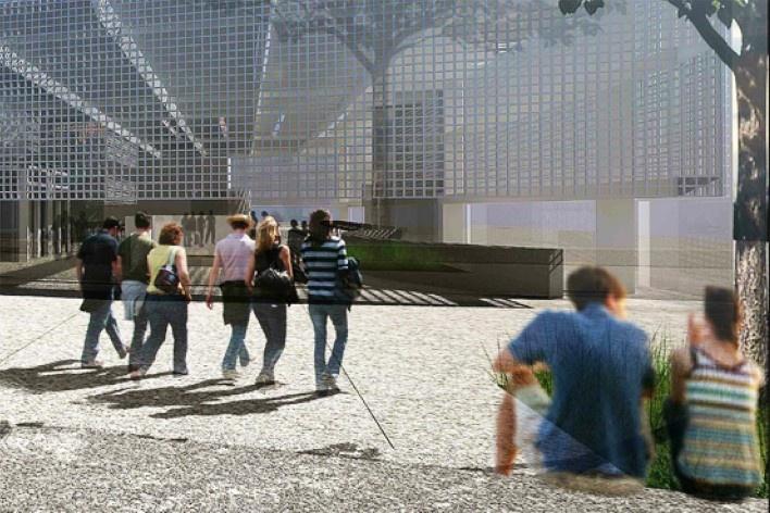 Readequação para o Pateo do Colégio, implantação, cota 745, São Paulo SP Brasil, 2013. Arquiteto Pedro Mendes da Rocha/ Arte 3 Arquitetura<br />Imagem divulgação  [Acervo Arte 3 Arquitetura]