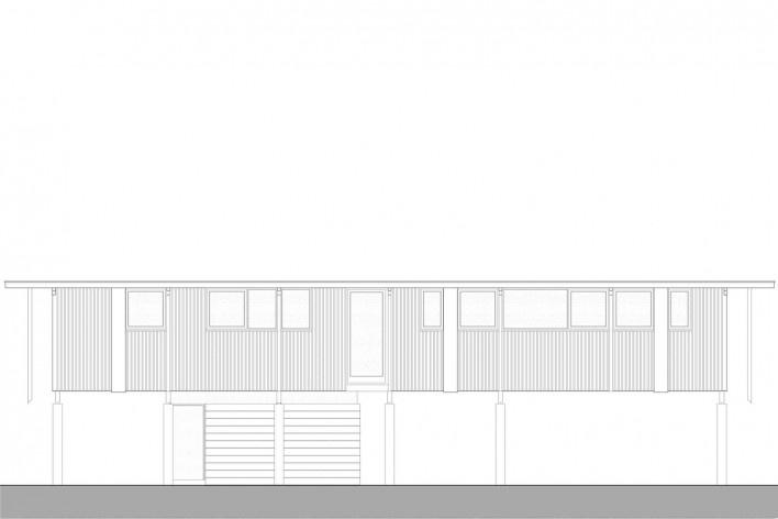 Vila Taguaí, elevação das casas 3 e 8, Carapicuiba SP, 2007-2010. Arquitetos Cristina Xavier (autora), Henrique Fina, Lucia Hashizume e João Xavier (colaboradores)