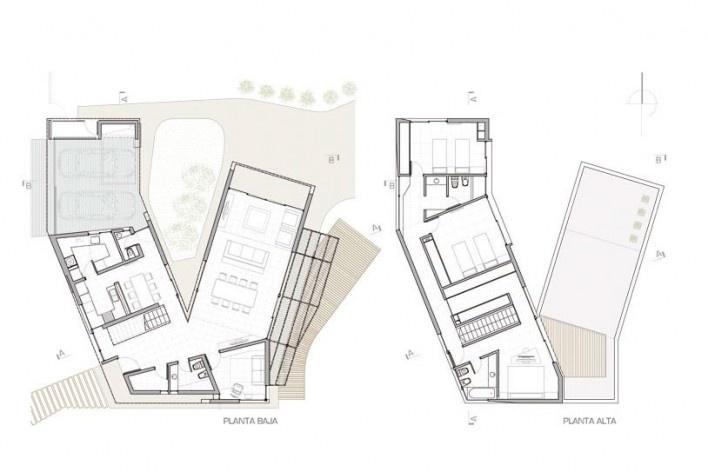Planta Baja y Planta Alta. Casa V, 2011. I + GC [arquitectura]. Funes, Argentina<br />divulgação