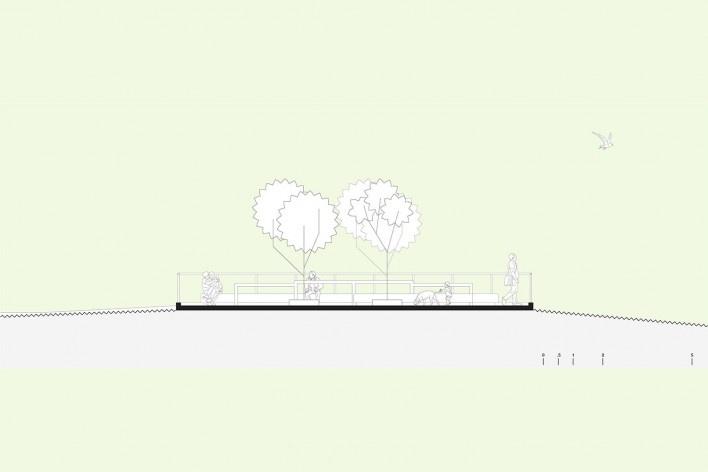 Readequação do Parque Municipal Raul Seixas, corte: nova praça, São Paulo SP Brasil, 2019. Secretaria do Verde e Meio Ambiente – Departamento de Implantação, Projetos e Obras/ Secretaria Municipal da Pessoa com Deficiência<br />Imagem divulgação  [SVMA/ SMPED]