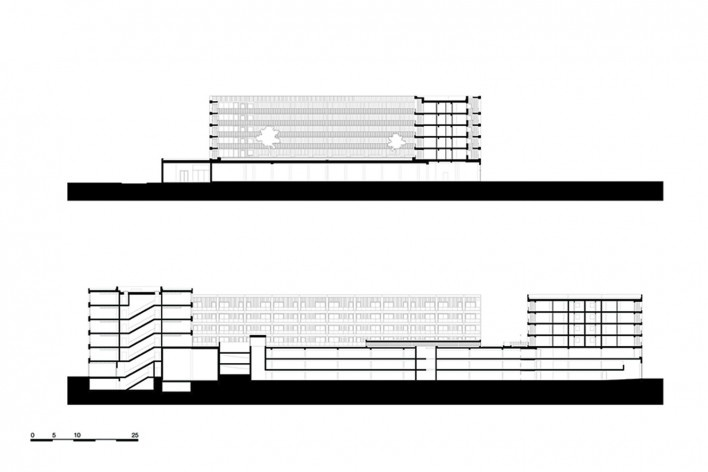 Bottière Chénaie, sections AA and BB, Nantes, France, 2019. Architects Kees Kaan, Vincent Panhuysen, Dikkie Scipio (authors) / Kaan Architecten<br />Imagem divulgação/ disclosure image/ divulgation  [Kaan Architecten]