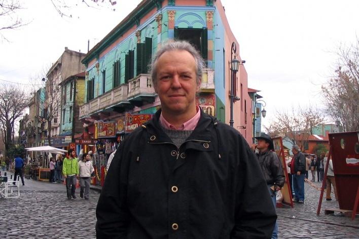 Luís Magnani no bairro La Boca, Buenos Aires<br />Foto Maria Angela Machado