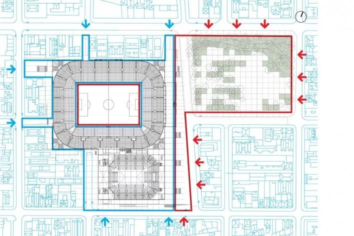 Complexo Esportivo e Cultural Clube Atlético Paranaense, implantação geral do conjunto, Curitiba. Arquiteto Carlos Arcos<br />Imagem divulgação