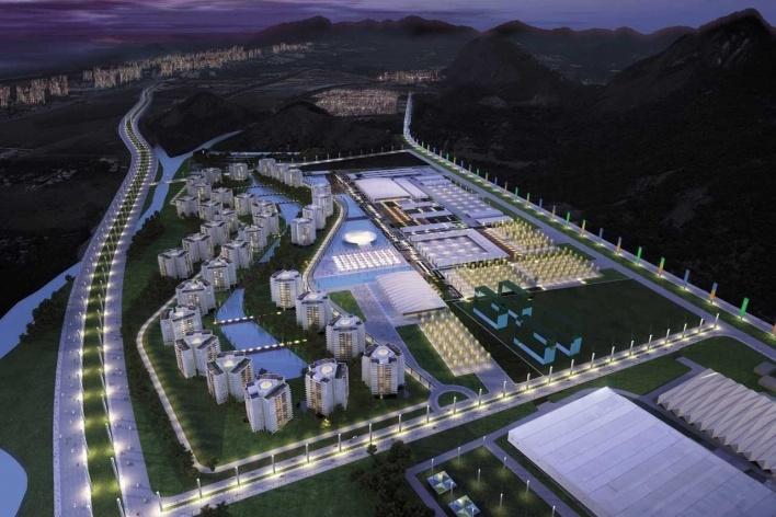 Olympic Village – Aerial View Night<br />Rio 2016/BCMF Arquitetos
