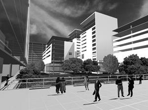 Vista Interna da Quadra<br />Imagem dos autores do projeto