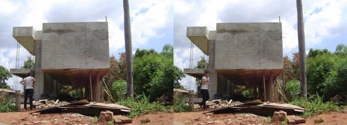 Casa en el aire. Desencofrado. Sergio Fanego, Larissa Rojas, Miguel Duarte. Luque, Paraguay. 2008-2010.