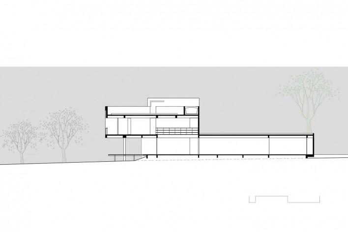 Arquiteto Fabiano Sobreira. Casa da Copaíba, Brasília, 2012. Corte A